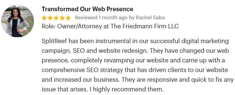 Review - The Friedman Firm LLC